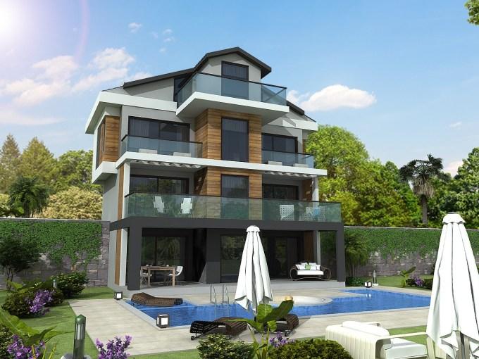 Triplex villa for sale in Göcek Turkey